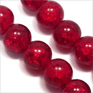 Lot-de-20-Perles-Craquelees-en-Verre-12mm-Rouge
