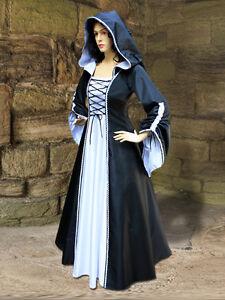 0e7deef03e8 Details about Mediaeval Renaissance Sorceress Gown witch Medieval Fantasy  Costume
