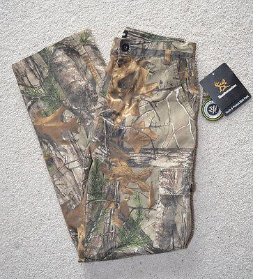 Buckmster Youth 6 Pocket Realtree Xtra Camo Cargo Pants Boys L or XL