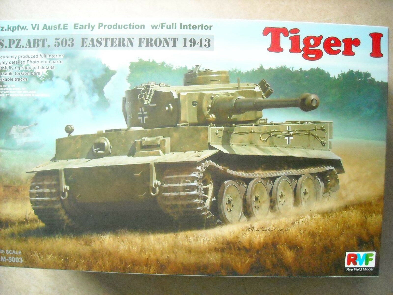 RYE FIELD-1 35- RM-5003-TIGER I,PZ.KPFW.VI AUSF.E AUSF.E AUSF.E EARLY PRODUCTION TIGER I 477