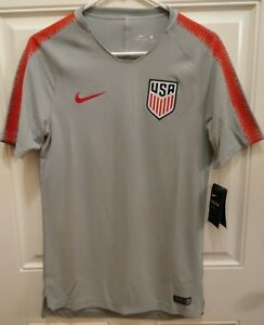 157e539d5a4 Image is loading Nike-USA-Soccer-2018-Pre-Match-Jersey-Mens-