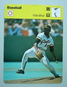 Details About 1979 Vida Blue San Francisco Giants Sportscaster Baseball Card 65 18