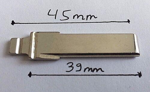 For VW Volkswagen Skoda Seat Audi Remote Flip Key Fob Blade HAA 39mm Length