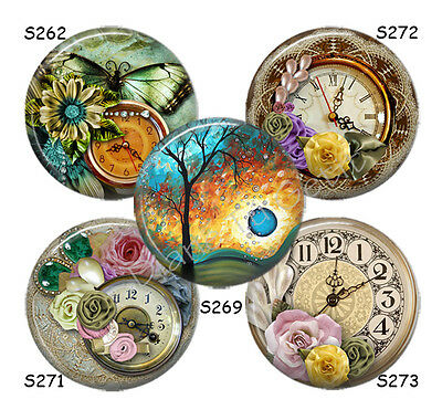 """Blue Roses /& Butterfly Magnetic Jewelry Insert for 23mm /& 1/"""" Magnabilities"""