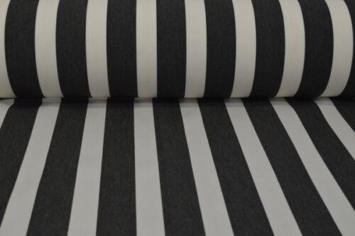 Markisenstoff schwarz-weiss gestreift Markisenstoff Meterware schwarz-weiß C22