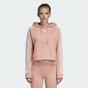 20aeb0c130923f Image is loading Adidas-DX2161-Women-originals-Crop-Hoodie-LS-shirts-