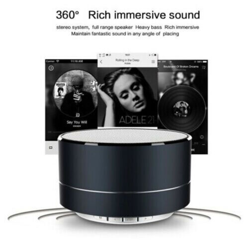 A10 Mini Portable Round Bluetooth Wireless Super Bass Stereo Speaker For Tablet