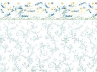 1/12scale Dolls House Wall Paper Symphony Blue Pp80
