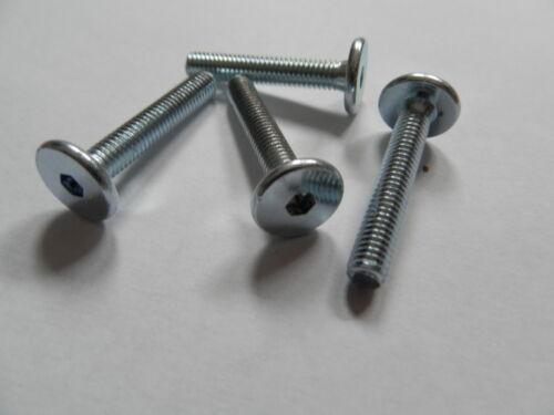 20 Innensechskant Schrauben 8 x 40 Stahl verzinkt Flachkopf 8x40 Möbel