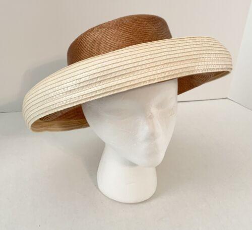 VTG ADOLFO II New York Paris;Wide Brim HAT;Straw … - image 1
