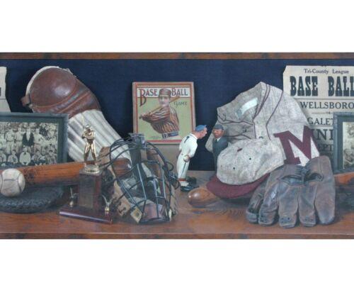 Bordüre 5150-2 Chesapeake Baseball Vintage 4,57m Borte OVP SALE Tapetenborte
