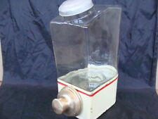 DISPENSER DISTRIBUTORE CAFFE' IN GRANI BAR VINTAGE GLASS COFFEE OLD ITALY