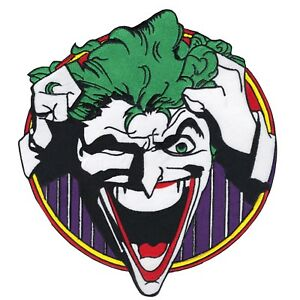 Image Is Loading DC Comics Joker Laughing X Large Logo Embroidered