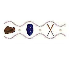 Tatouage Baseball Border Rub on Tranfer by Yovan--5 Sheets--10 Feet