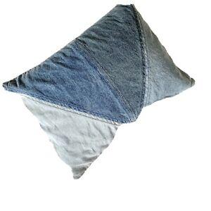 Pottery Barn Emily & Merritt  Accessory Lumbar Denim Throw Pillow Insert & Cover