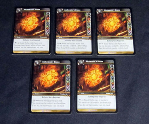 World of Warcraft WoW TCG Alchemist/'s Stone Crafting 5 Item Epic Lot of
