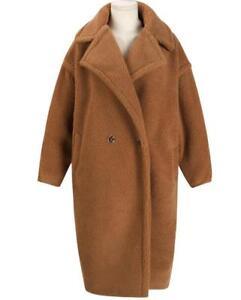 2017 Luxury Women Teddy Bear Feel Oversized  Faux fur  Long Coat UK 4- 16