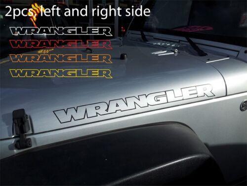 "2pcs 28/"" WRANGLER Contour Vinyl Sticker Decal Graphics for JEEP WRANGLER hood"