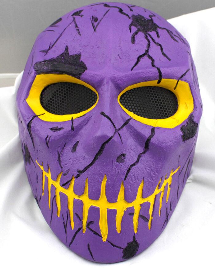 Fiberglass Resin Mesh Eye Airsoft Paintball Full Face Prossoection Skull Mask M801