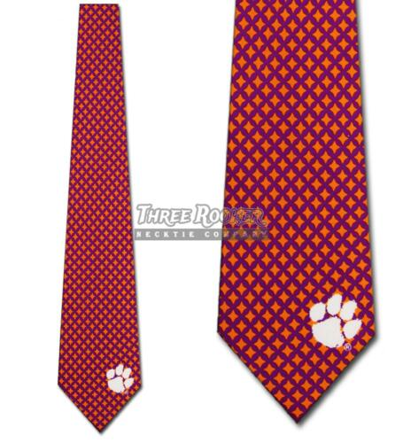 Clemson Tigers Neckties Mens Tigers Ties FREE SHIPPING Officially Licensed NWT