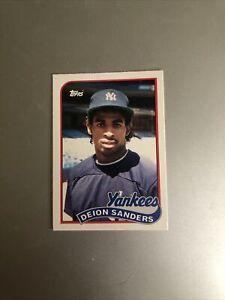 1989 Topps Deion Sanders #110T Baseball Card RC Yankees! SHARP!