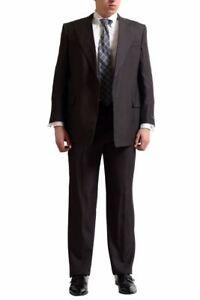 Gianfranco-Ferre-034-Saintandrews-034-Men-039-s-100-Silk-Dark-Brown-Suit-Suit-US-42-IT-52