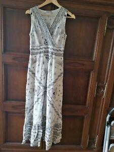 Maxikleid Orsay Gr 38 M Weiss Floral Kleid Mit Unterrock Wie Neu 100 Viskose Ebay