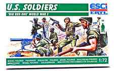 ESCI ERTL #202 - 1/72 scale WWII U.S. Soldiers 'Big Red One' - mint boxed set