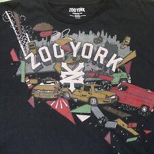 Zoo York T-Shirt XXL Black New York Traffic Taxi Smash Up Crash  EUC 2XL