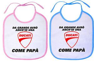 Bavaglino-Da-Grande-Avro-anch-039-io-una-Ducati-come-Papa-Personalizzato-Neonato