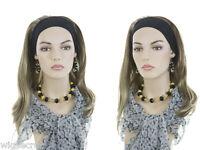 Medium Length Elastic Headband Fall Straight And Layered Headbands Hair Pieces