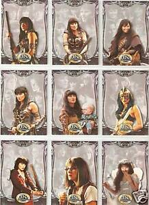 Xena-Beauty-and-Brawn-complete-72-card-base-set-Rittenhouse