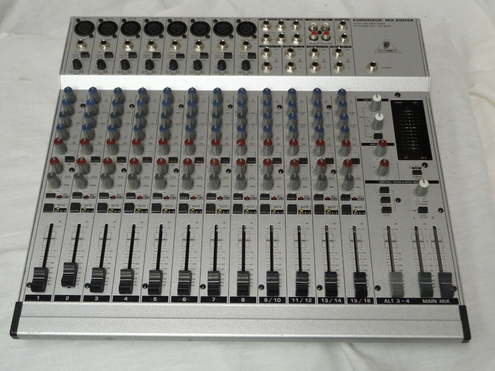 Behringer Eurorack MX 2004A 20 Channel Mixer Console Sound Board -No Power Cord. Buy it now for 55.00