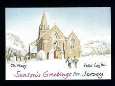 JERSEY - ISOLA DI JERSEY - Cartolina - 1992 - Auguri di buone feste da Jersey