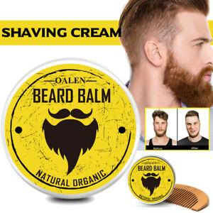 2Pcs-Kit-Entretien-Soin-Barbe-Avec-creme-a-Raser-Huile-Beard-Grooming-et-Peigne