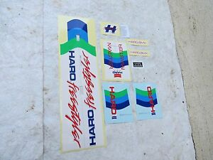 HARO-MASTER-DECALS-BMX-WHITE-STICKERS-FACTORY-MADE-RARE