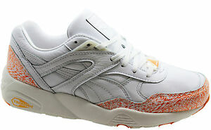 Puma R698 Snow Splatter Pack Leather White Mens Trainers 358391 ... 4a4302f7f