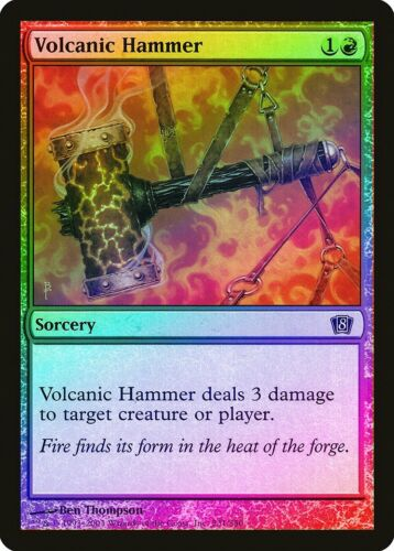 Volcanic Hammer FOIL 8th Edition NM-M Red Common MAGIC GATHERING CARD ABUGames
