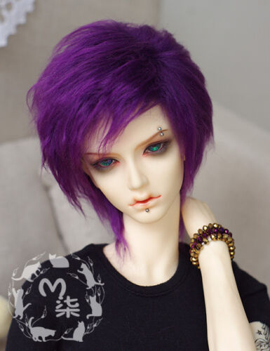 "8.5-9/"" 22-23cm BJD fabric fur wig Deep Purple for 1//3 BJD SD AA LUTS DOLLFIE"