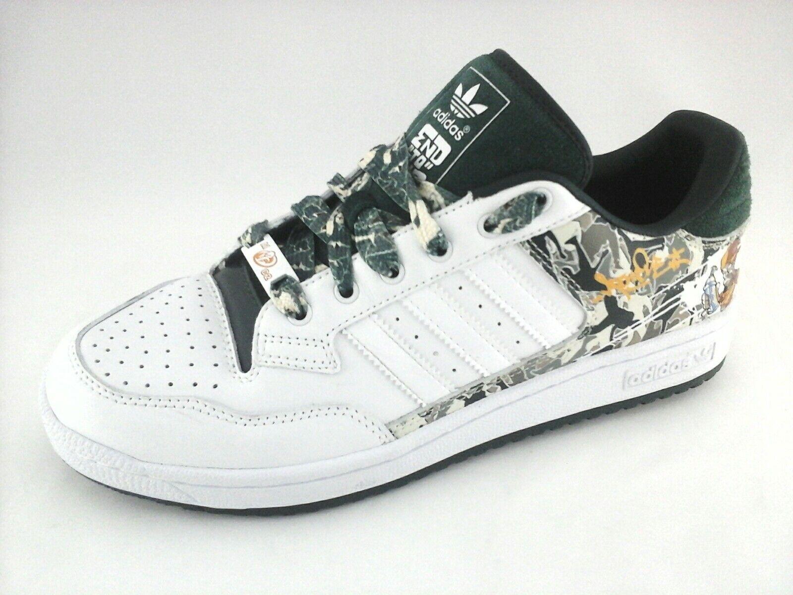 Adidas Zapatillas de extremo a extremo 017689 hip zapatillas de skate graffiti hip 017689 hop Verde / blanco Hombres 576d89