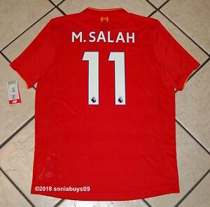 a67eb506 New Balance Men's M.SALAH Liverpool Home Soccer Jersey, MT630001 ...