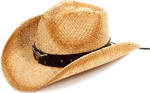 Kid Boys Girls Western Cowboy Hat Wide Brim Straw Sun Beach Party ... 1bb39366d5ac