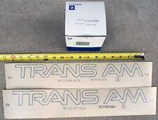 NOS 91-92 Firebird Trans Am door decals GM 82-92 original new old stock GM