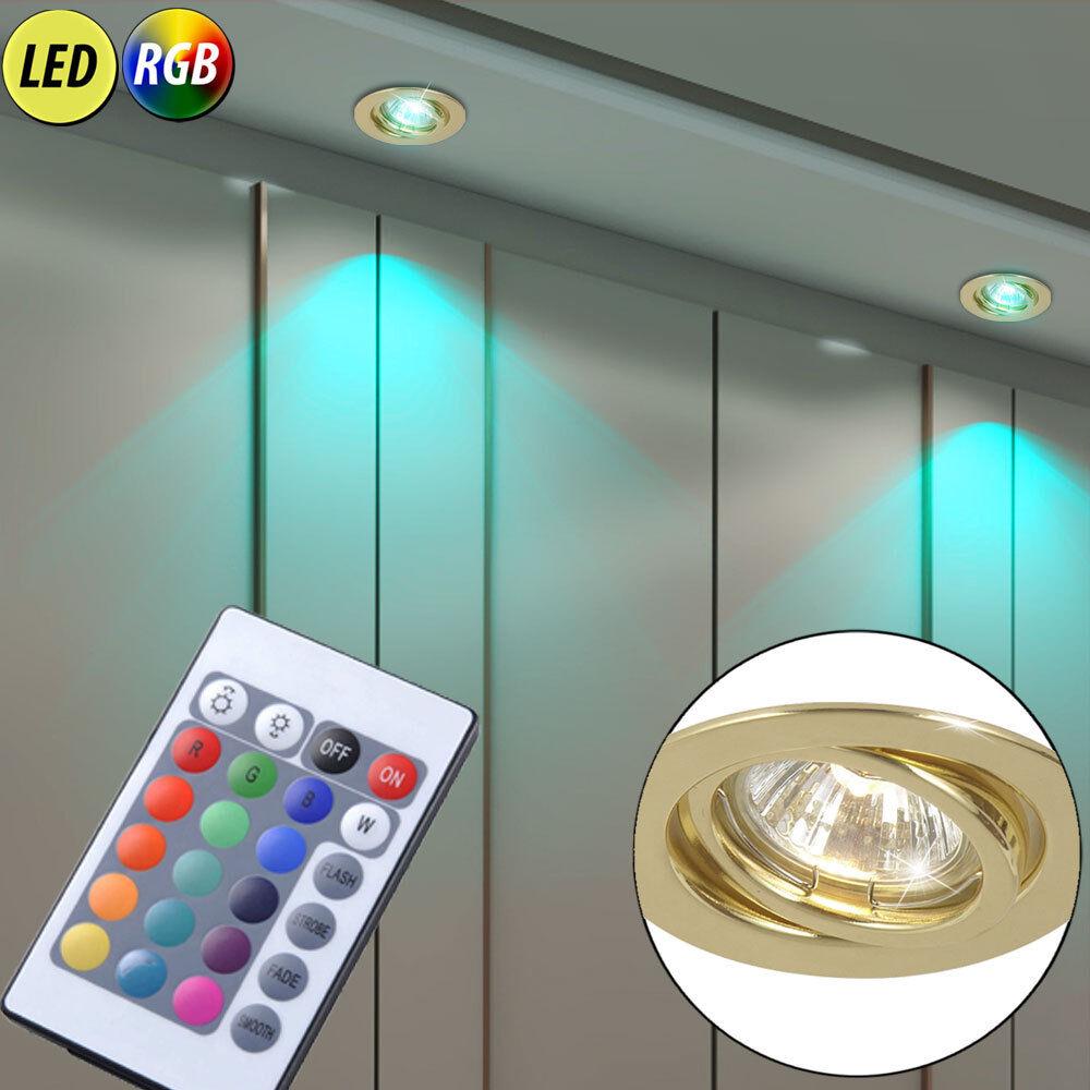 all'ingrosso economico e di alta qualità 2x Led Faretti Da Da Da Incasso Dimmerabile corridoio soffitto lampade circa ruotabile RGB TELECOMANDO  in cerca di agente di vendita