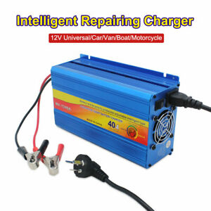 Details about 12V Battery Charger 40 Amp smart charge Car ATV 4WD Boat  Caravan Motorcycle New