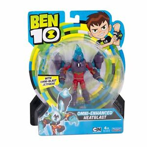 Ben 10 OMNI-ENHANCED HEATBLAST Toy Action Figure 12.5 cm Original, New & Sealed
