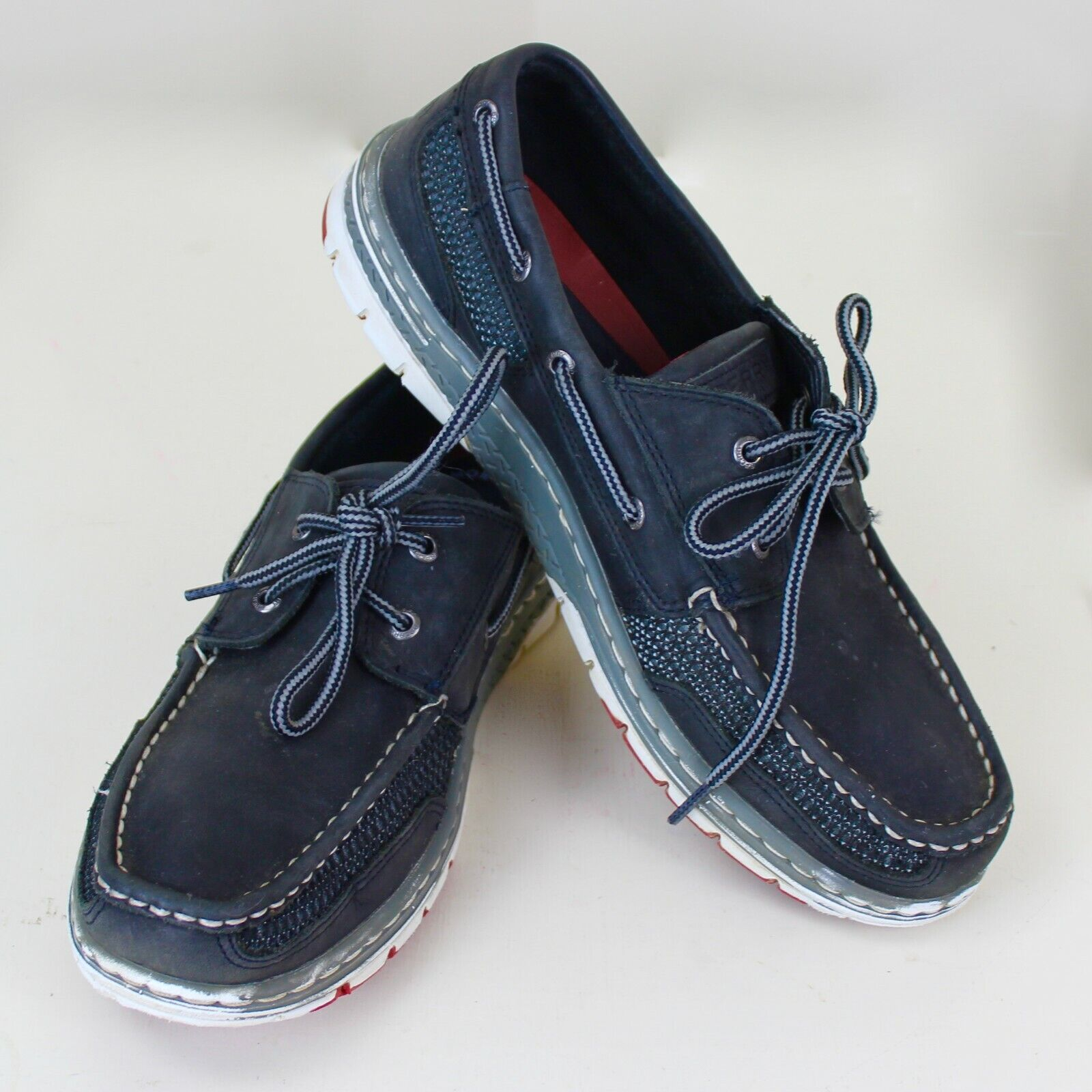 Sperry Top Sider Boat shoes 10.5M Navy bluee White Detail Memory Foam Excellent