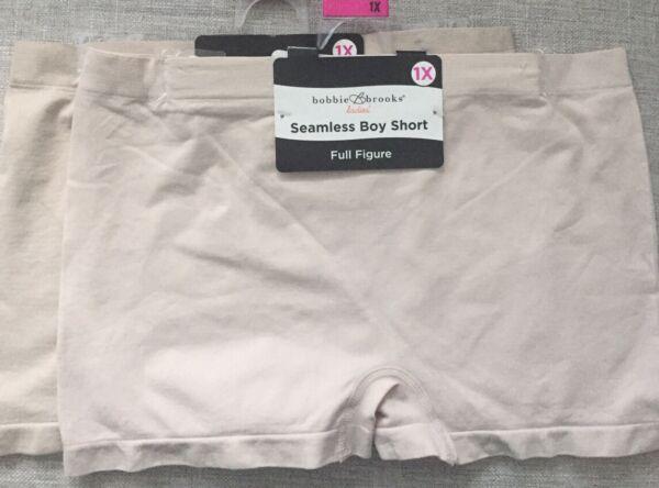 Bobbie Brooks Womens Seamless Boy Short Underwear Nude Sz