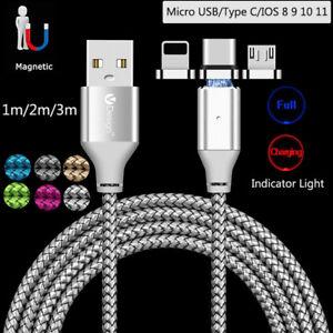 1-3-M-USB-Type-C-micro-USB-iOS-connecteur-magnetique-Cable-Rapide-Chargeur-Adaptateur