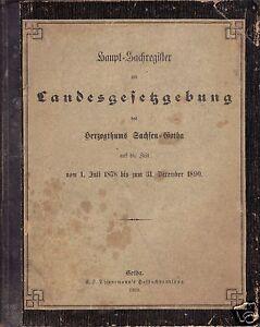 Haupt-Sachregister-zur-Landesgesetzgebung-d-Herzogthums-Sachsen-Gotha-1878-1890